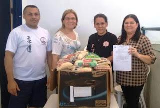 Escola de judô em Picuí faz doação de gêneros alimentícios para o banco de alimentos