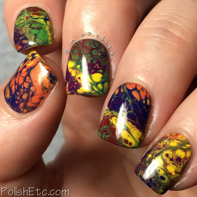 Rainbow Nails for the #31DC2018Weekly - McPolish - Sinful Colors Hypnotic Transforming Top Coat