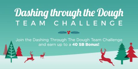Image: Join the Dashing Through the Dough team challenge hosted by Swagbucks, a website where you can earn cash back on everyday tasks you do online