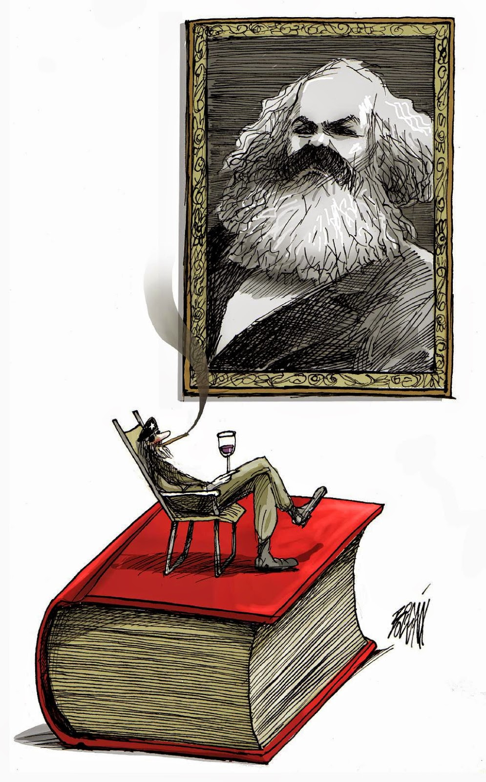 Angel Boligan - Sátira Surrealista | Karl Marx