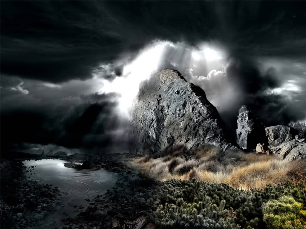 News Times: Dark Cloudy Sky