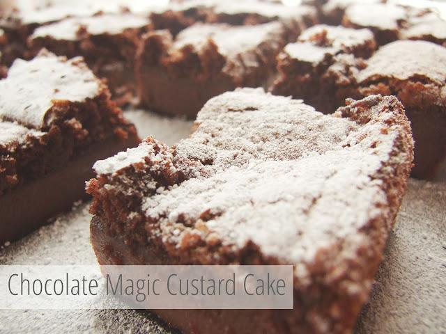 Chocolate Magic Custard Cake - Gathering Beauty