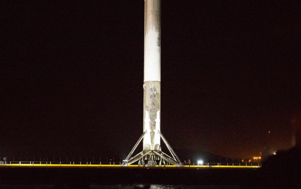 SpaceX Falcon 9 Rocket Returns To Port Canaveral Aboard Barge