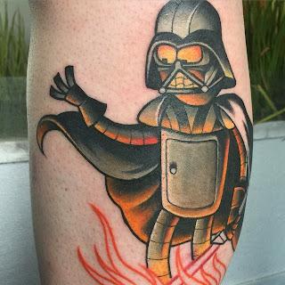 Bender as Darth Vader tattoo