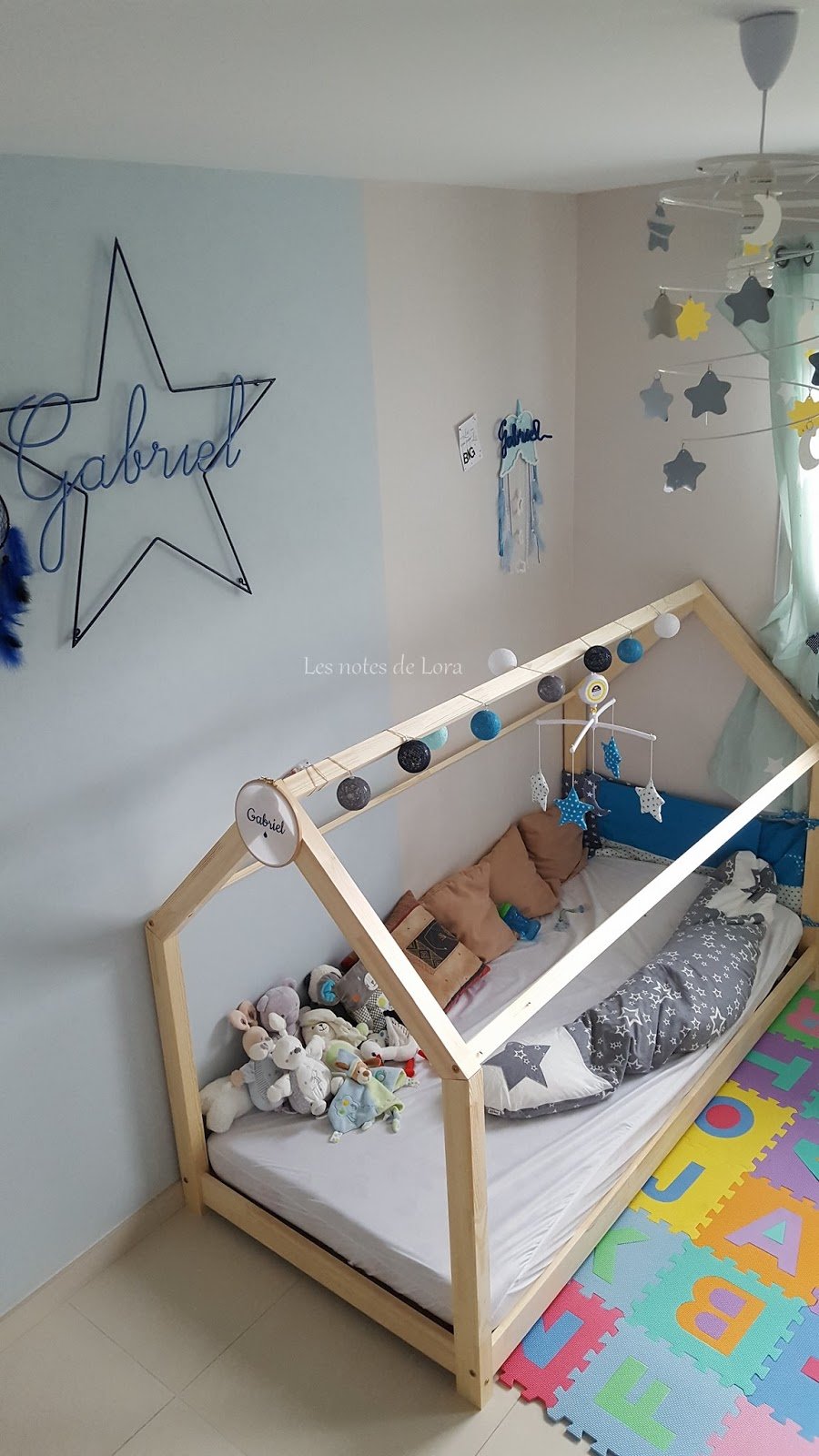 les notes de lora un lit cabane type montessori pour enfant. Black Bedroom Furniture Sets. Home Design Ideas