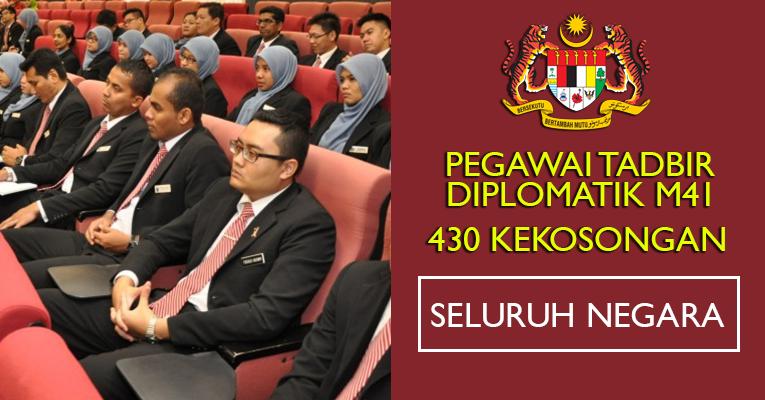 430 Kekosongan Pegawai Tadbir Diplomatik M41 2019 - Seluruh Negara