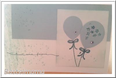 Karte, Stempel und Stanzen Partyballon