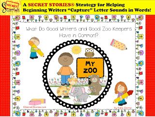 "FREE Secret Stories® ""Zoo Keeper and M&M Quizzes"" Tricks for Teaching Beginning Writers"