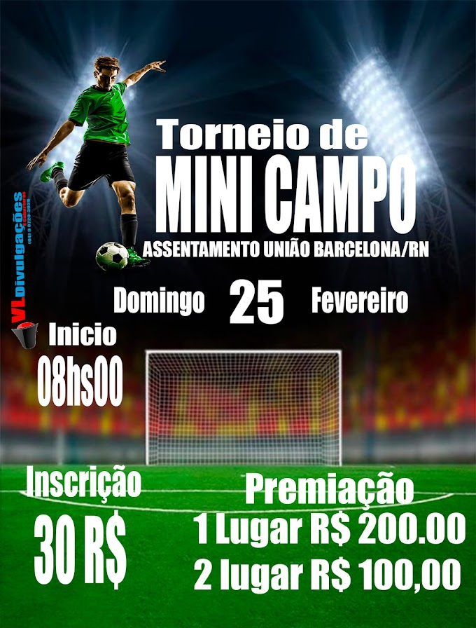 Barcelona : Torneio de mini campo sera neste domingo dia 25