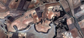 Abstract Naturalism, Spain fields from the air, , abstract surrealism, artistic representation of human labor camps