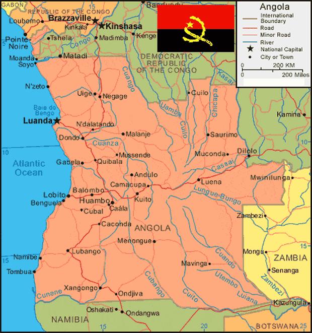 Peta Angola