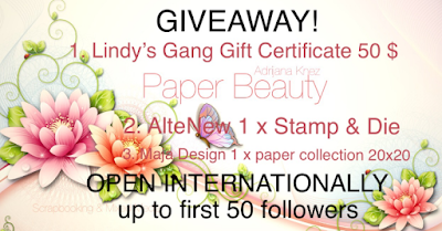 Giveaway at  Adrijana's Blog