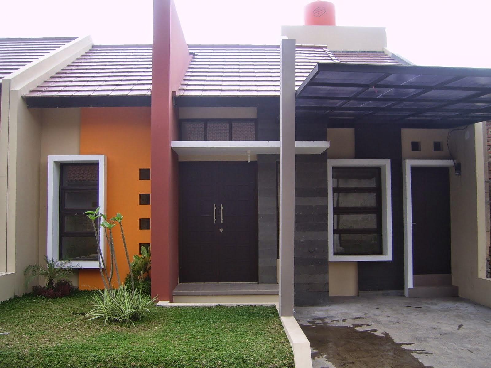 43 Contoh Cat Rumah Minimalis Warna Orange Yang Nampak Modern