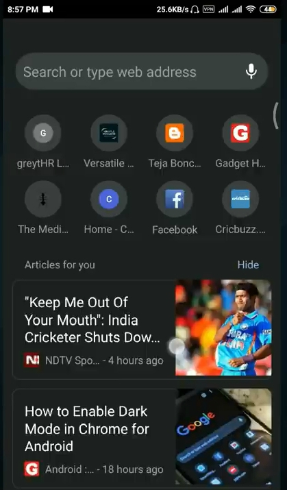 Enable Dark Mode In The Google Chrome Browser For Android