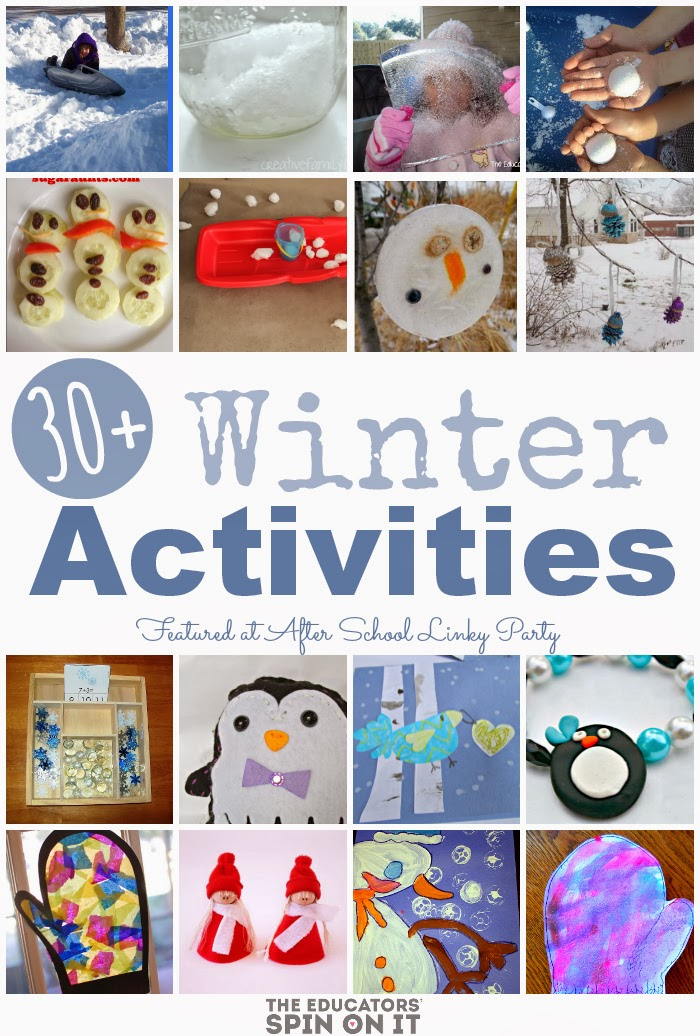 30+ Winter Activities for Kids featured at The Educators' Spin On It