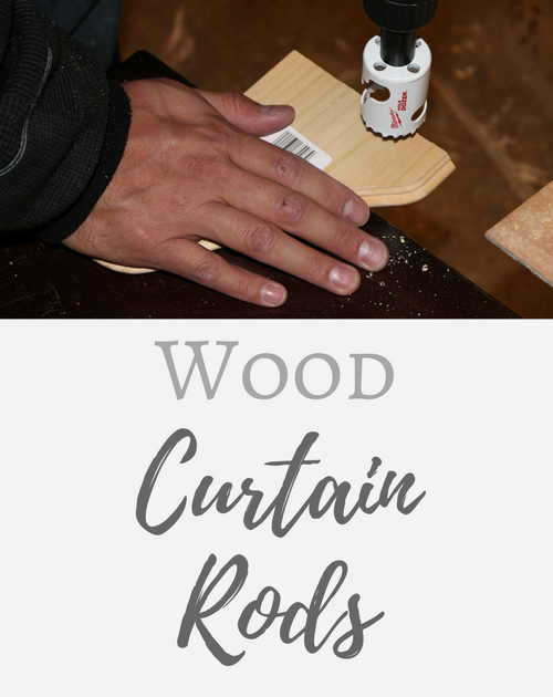 DIY Wood Curtain Rods on the Cheap!