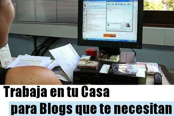Trabaja en tu casa escribiendo para otros blogs