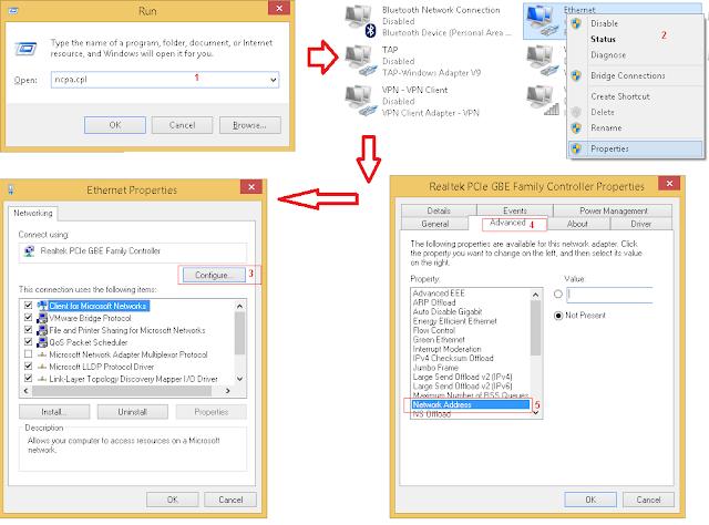 pilih network interface untuk gwarnet gold