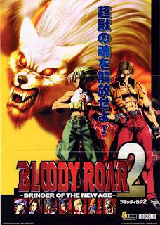 Bloody Roar arcade game portable original flyer