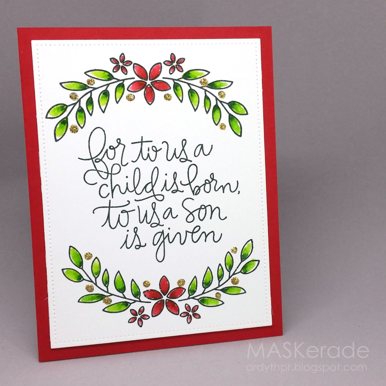 Maskerade church christmas project 2016 day 1 muse 194 welcome to december its day 1 of my annual showcase of cards ive made throughout the year for my church christmas card project for more information kristyandbryce Gallery