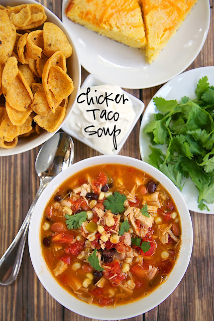 Chicken Taco Soup Recipe Chicken Beans Corn Tomatoes Ranch Mix And