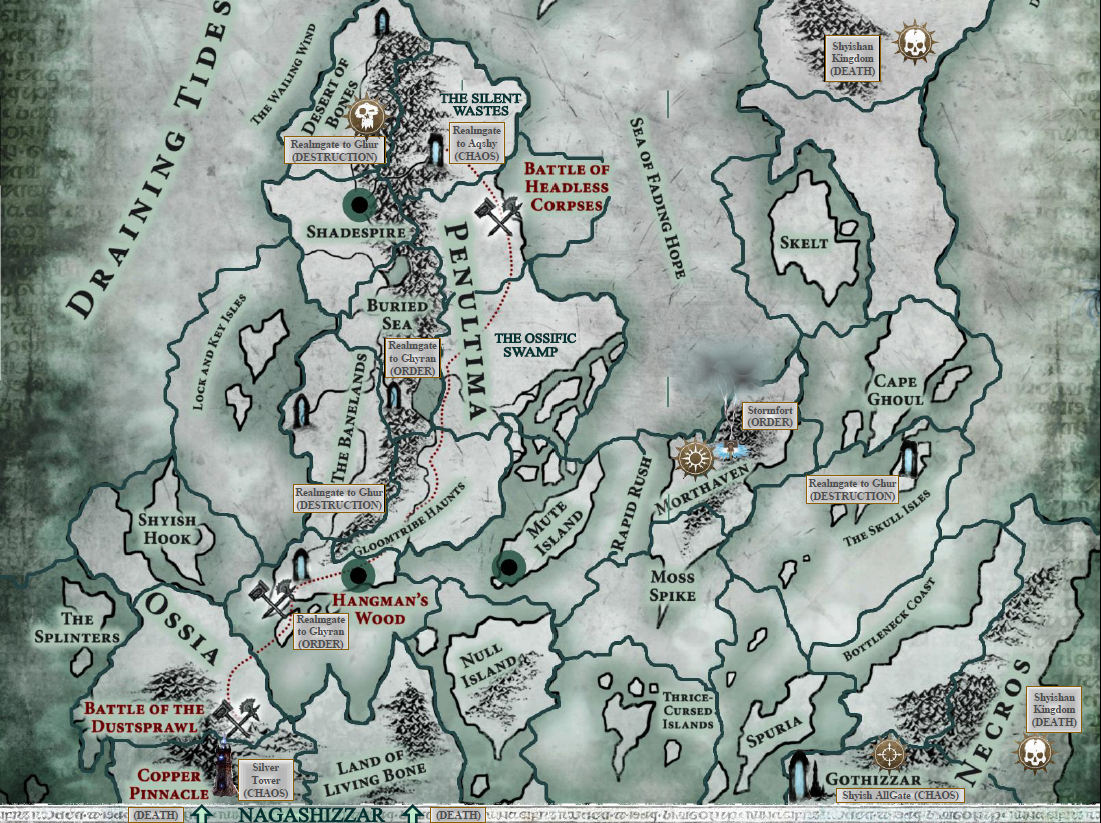 Warhammer Narratives: Warfront (Age of Sigmar) map of Shyish