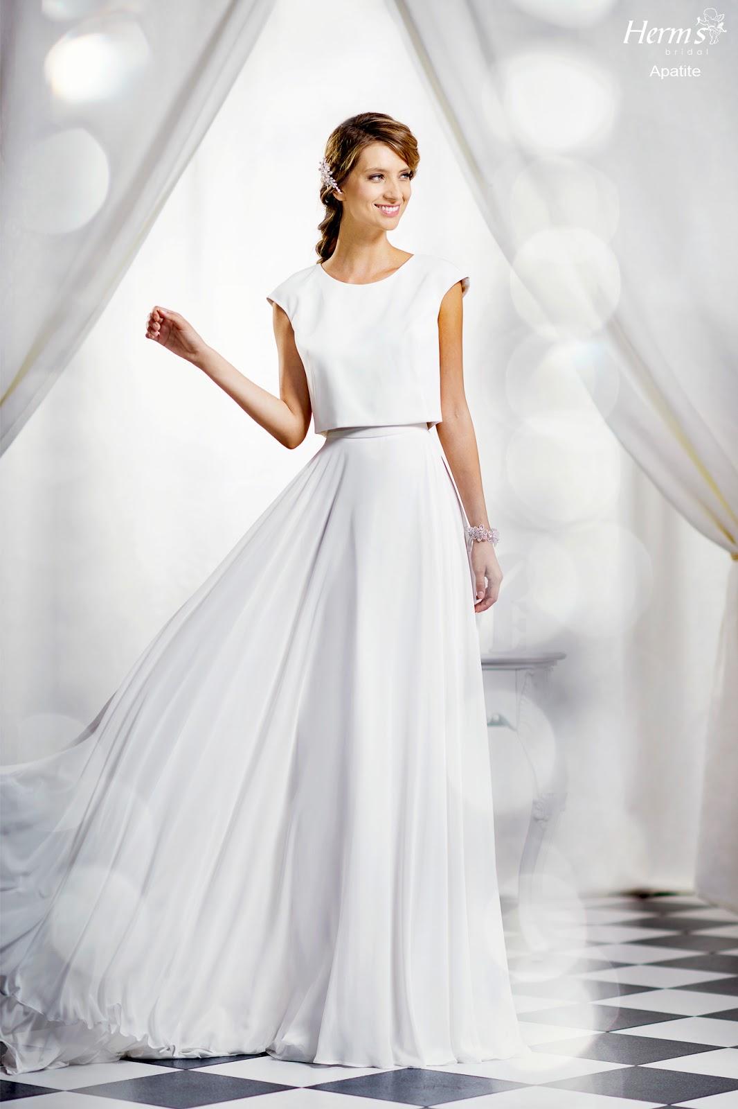 f3ad12ae5b67 Νυφικό Herm s bridal 2017 μεταξωτή μουσελίνα (φούστα και crop top)