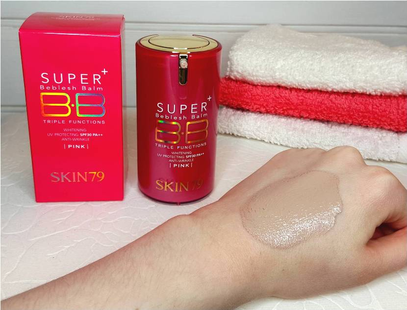 SKIN79 HOT PINK SUPER+ BEBLESH BALM TRIPLE FUNCTIONS