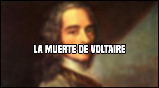 La muerte de Voltaire