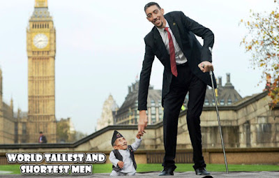 world tallest and shortest men