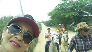 Cavalgada de Angico a fazenda de Zé de Estefa, no município de Mairi