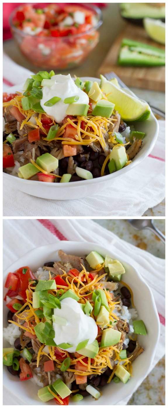 Slow Cooker from Scratch®: Slow Cooker Pork Burrito Bowls ...
