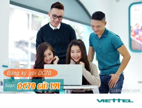 Đăng ký gói Dcom DC70 Viettel trọn gói chỉ 70,000đ/ tháng