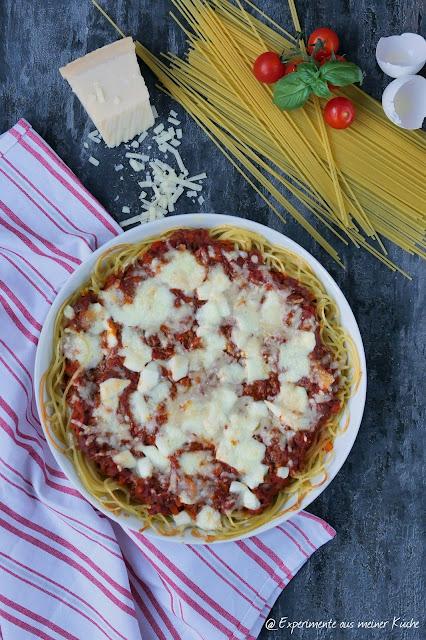 Spaghetti Bolognese Auflauf | Rezept | Kochen | Essen | Pasta