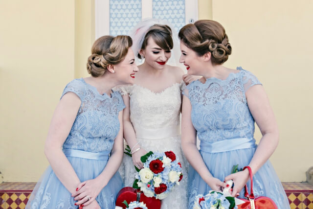 50s pin-up vintage wedding hair by Flamingo Amy