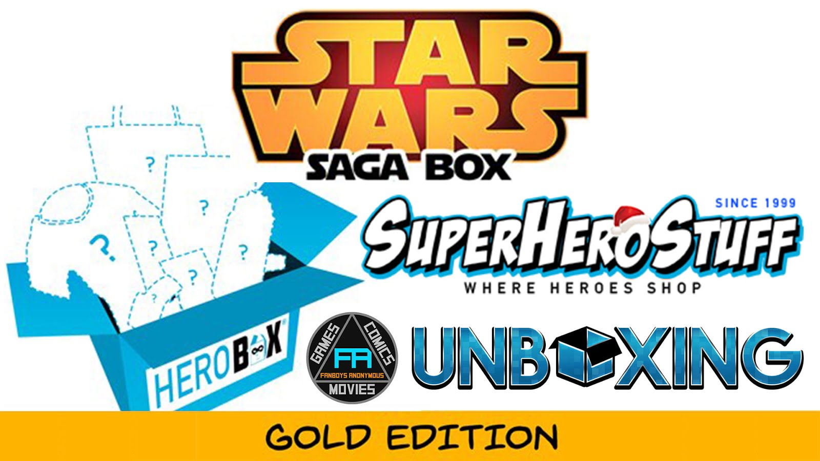 Star Wars Saga Box Gold Edition Unboxing Herobox SuperHeroStuff