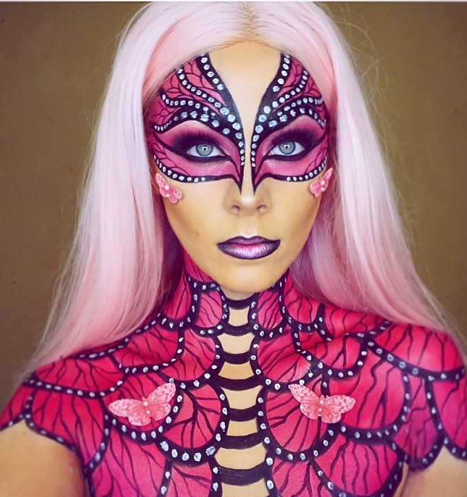 10-Pink-Butterfly-Jade-Deacon-Fantasy-Transformations-for-Halloween-with-Body-Paint-www-designstack-co