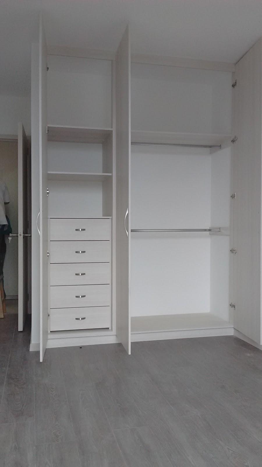 Closets y cocinas integrales residencial closet y closet for Precio de melamina