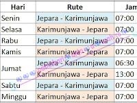 PROFIL KAPAL FERRY SIGINJAI JEPARA KARIMUNJAWA