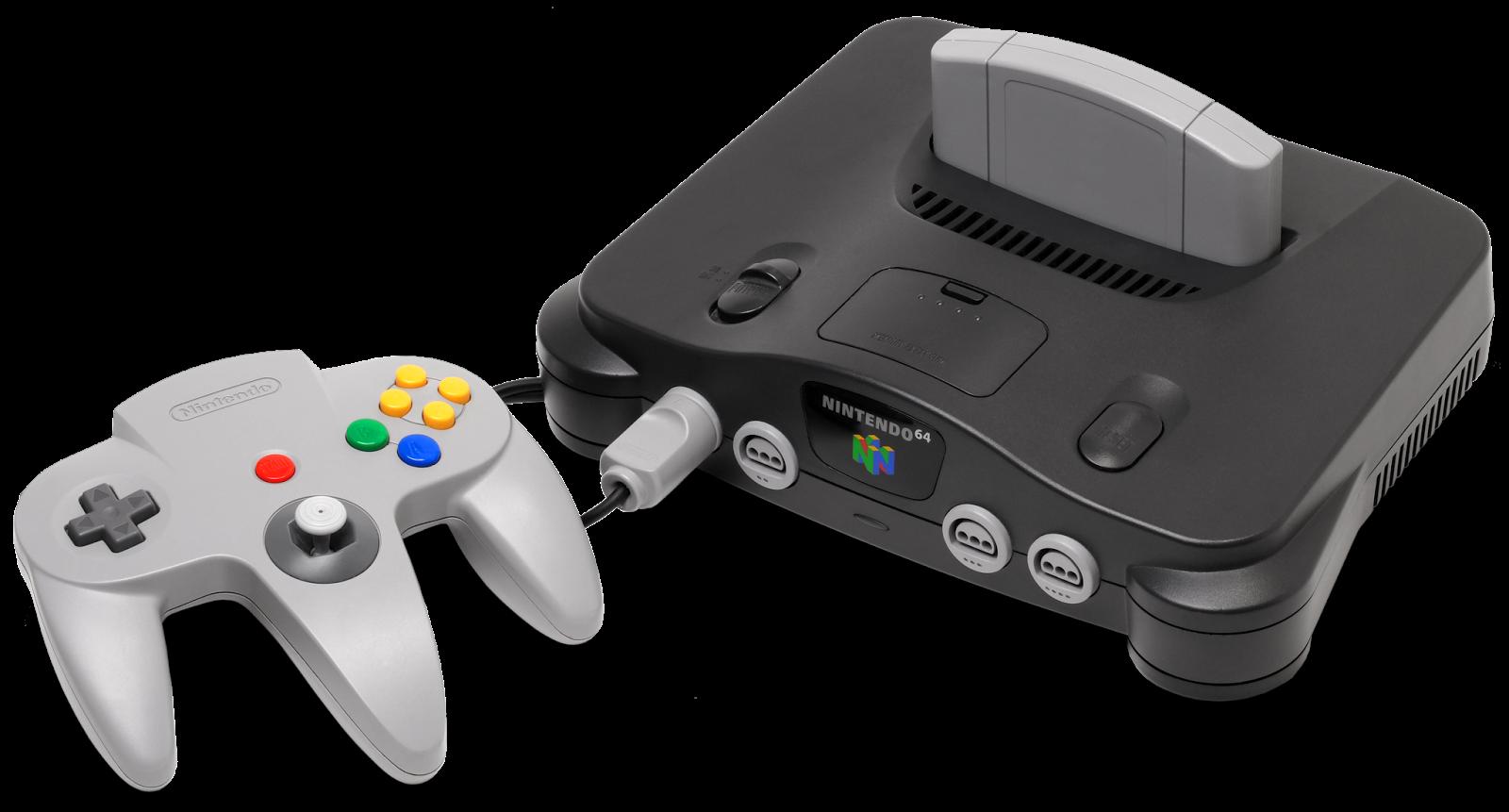Imagen con la videoconsola Nintendo 64, 1991, fotografía: Evan-Amos (cc:by-sa)