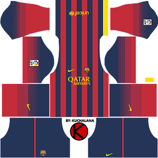 barcelona kits 2013 2014 dream league soccer kuchalana
