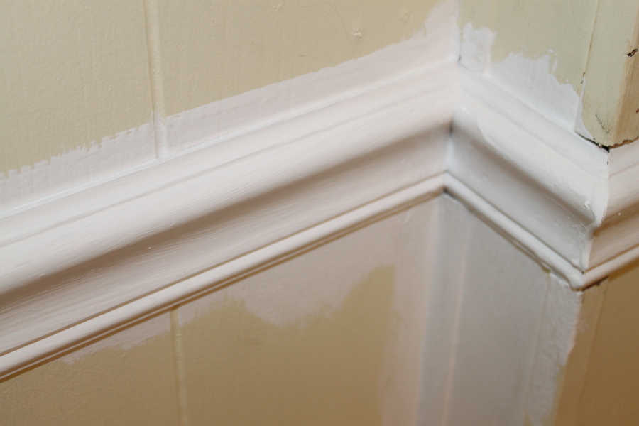 Bathroom+Chair+Rail Painting Shower Walls In Mobile Home on ceramic tile in mobile home, trim in mobile home, remodeling walls in mobile home, paint in mobile home, plumbing in mobile home,