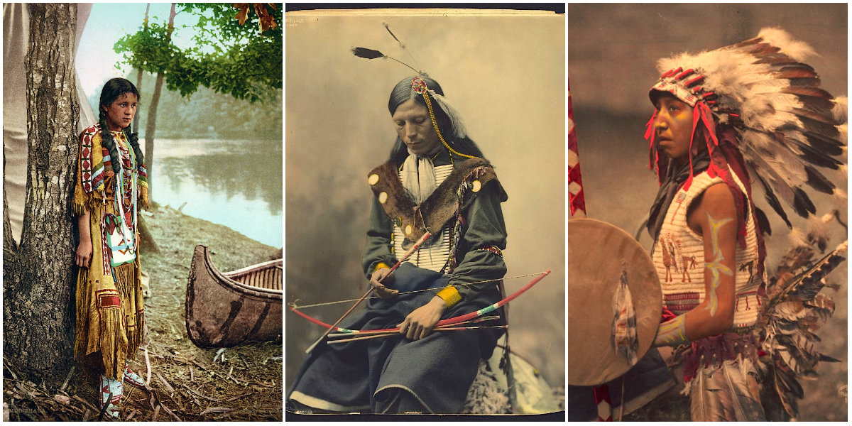 23 Beautiful Color Photos of Native Americans in the Late ...