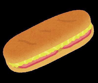久留米ホットドッグのイラスト