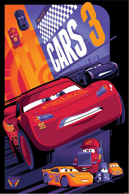 Cars 3 Asphalt Variant Disney•Pixar Screen Print by Tom Whalen x Cyclops Print Works