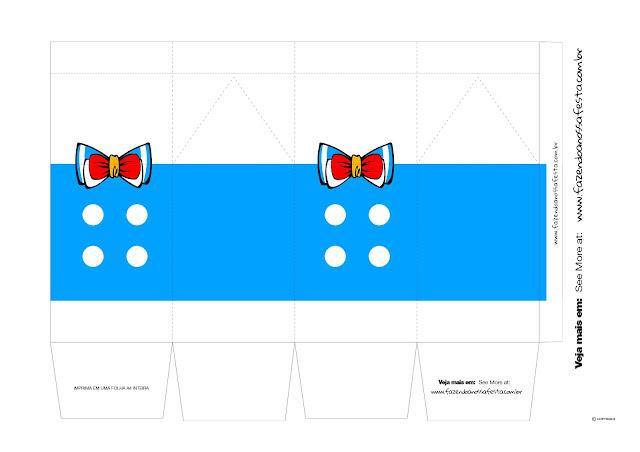 Cajas de Donald para Imprimir Gratis.