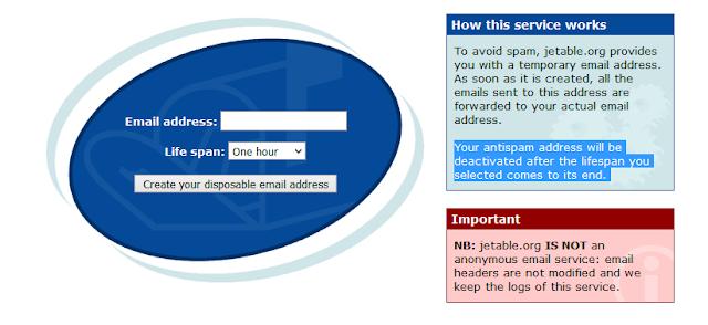 Créer des adresses email jetable