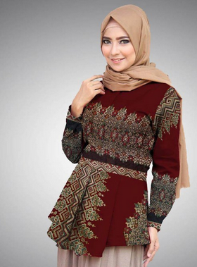 baju batik terbaru wanita muslimah