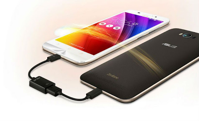 Asus ZenFone Max used as a power bank