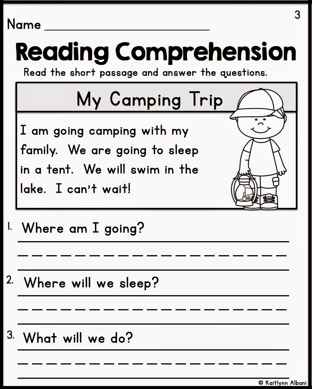 Reading Comprehension Kindergarten Worksheets Free - Coffemix